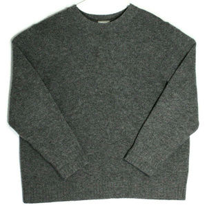 L.L. Bean Mens Shetland Wool Gray Sweater Size XL